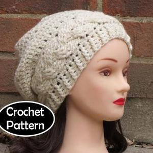 CROCHET HAT PATTERN - JULIA Slouchy..