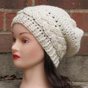 4b1b5c07de0 CROCHET HAT PATTERN - JULIA Slouchy Beanie Hat Fall Winter Braid ...