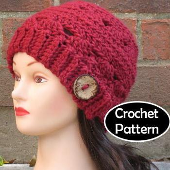 CROCHET HAT PATTERN - Ada Cloche Beanie Hat Chunky Fall Winter